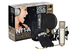 Rode NT1A Studio Condenser Microphone Pack, with Shock Mount, Pop Filter & Cable